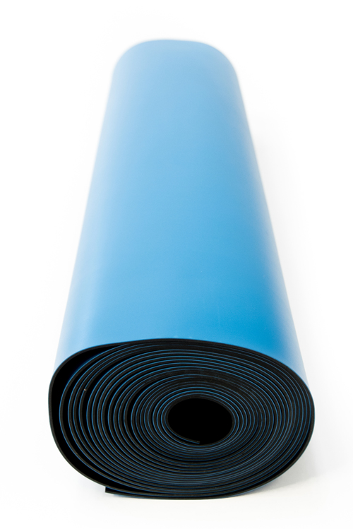 esd two layer rubber mat